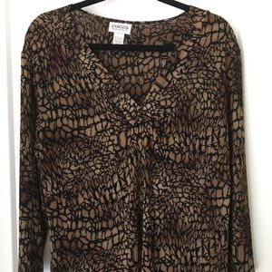Chicos Travelers Long Sleeve Blouse